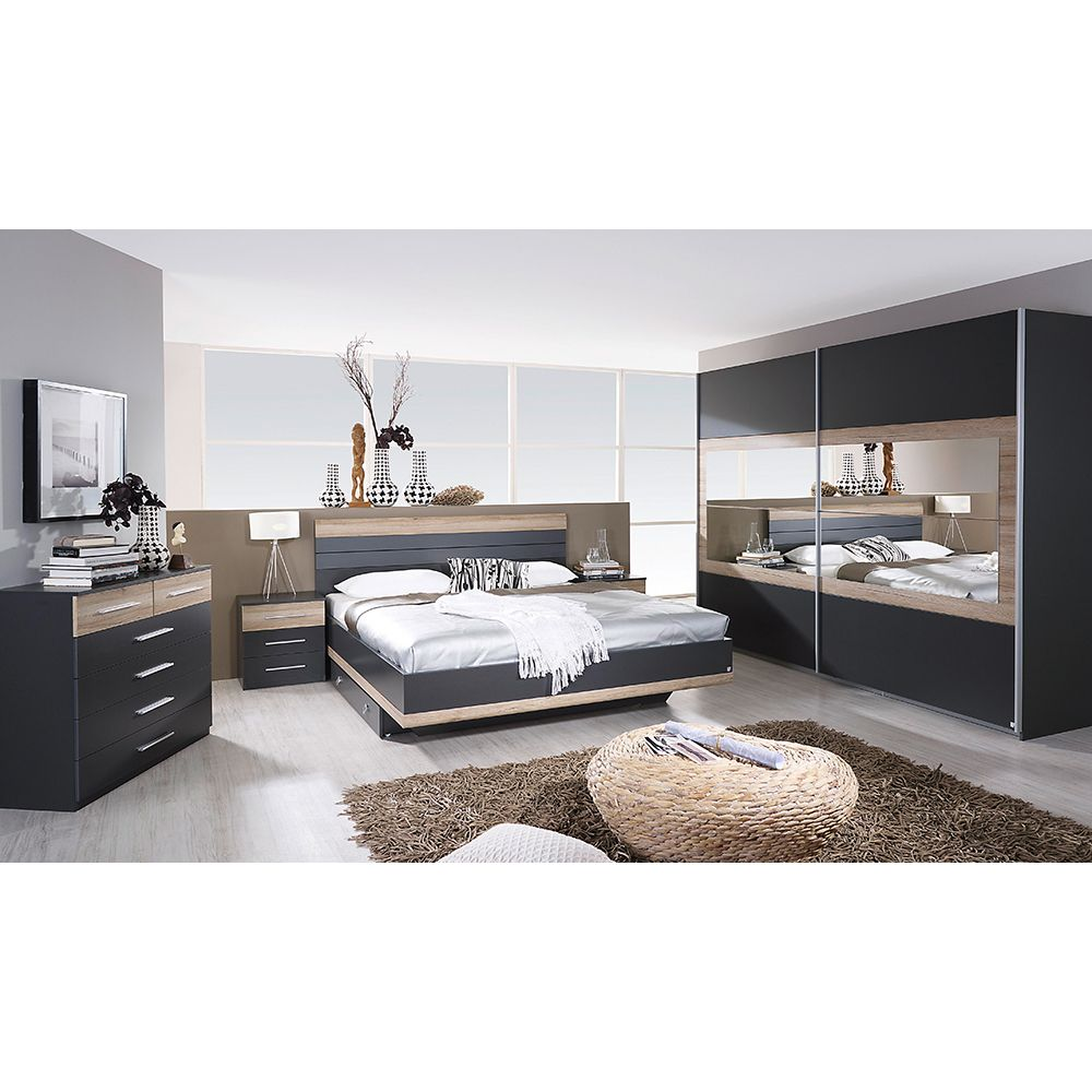 Komplett Schlafzimmer Tarragona 4tlg. Bett Breite wählbar