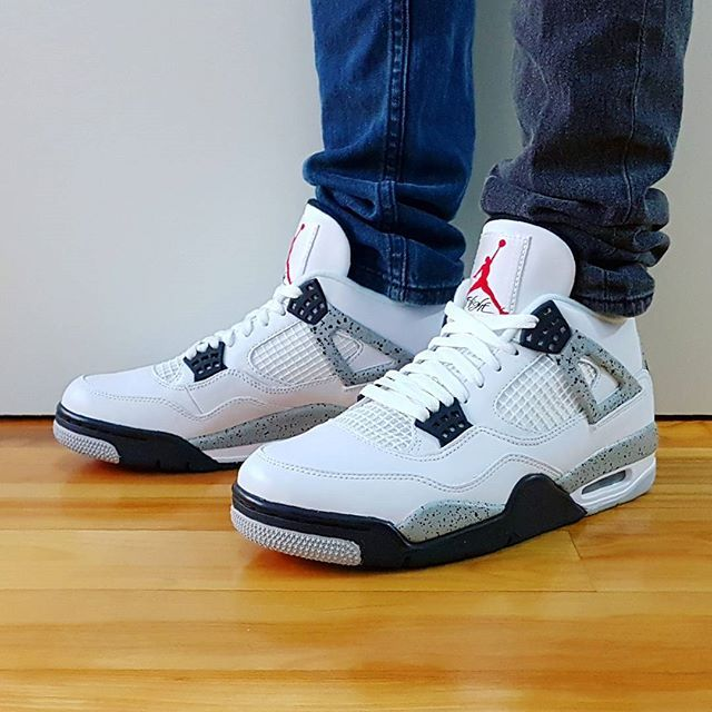 Go Check Out My Air Jordan 4 Retro Og White Cement On Feet Channel