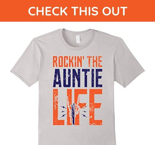 Mens ROCKIN' THE AUNTIE LIFE T-SHIRT, FUNNY GIFT FOR WOMEN Small Silver - Funny shirts (*Amazon Partner-Link)