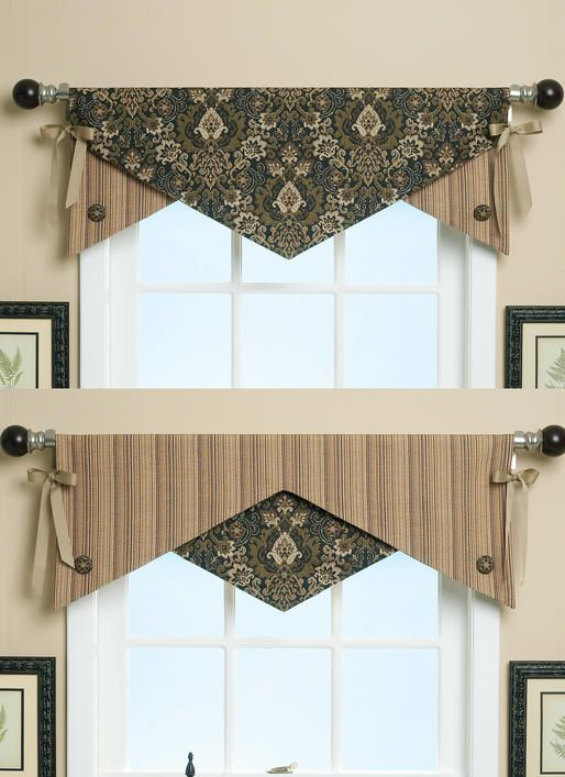 Button Detail Projects Curtains Valance Window