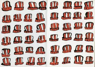by Lucy Cousins, 'Portly's Hat'  the end papers