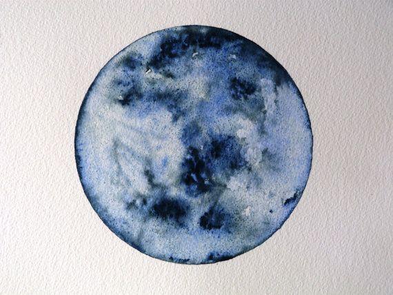 Custom Watercolour Planet Moon Galaxy Art Watercolor Moon Art Inspiration