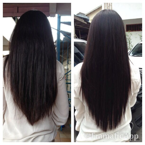 Before And After Rebonding Hair Styles Stylish Hair Long Length Hair