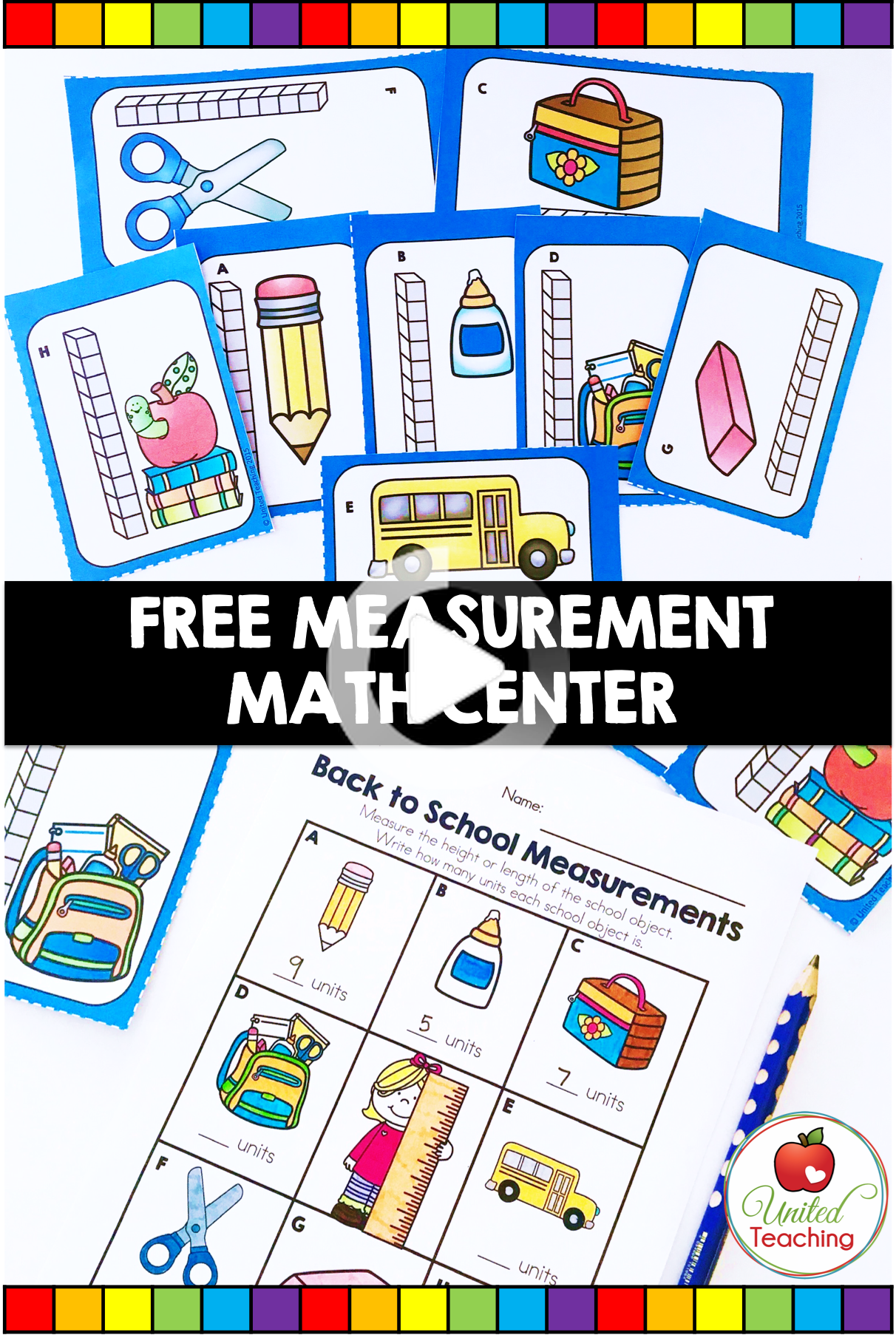 Back To School Measurement Math Center In