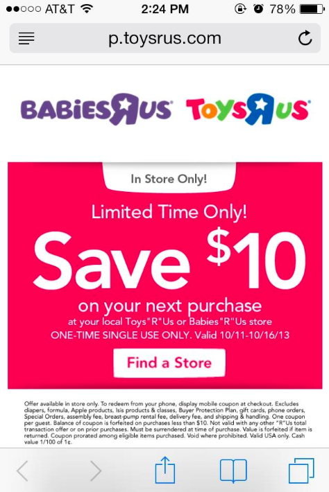 picture relating to Toysrus Printable Coupons known as $10 off $10 coupon towards Toys R Us and Toddlers R Us - expired
