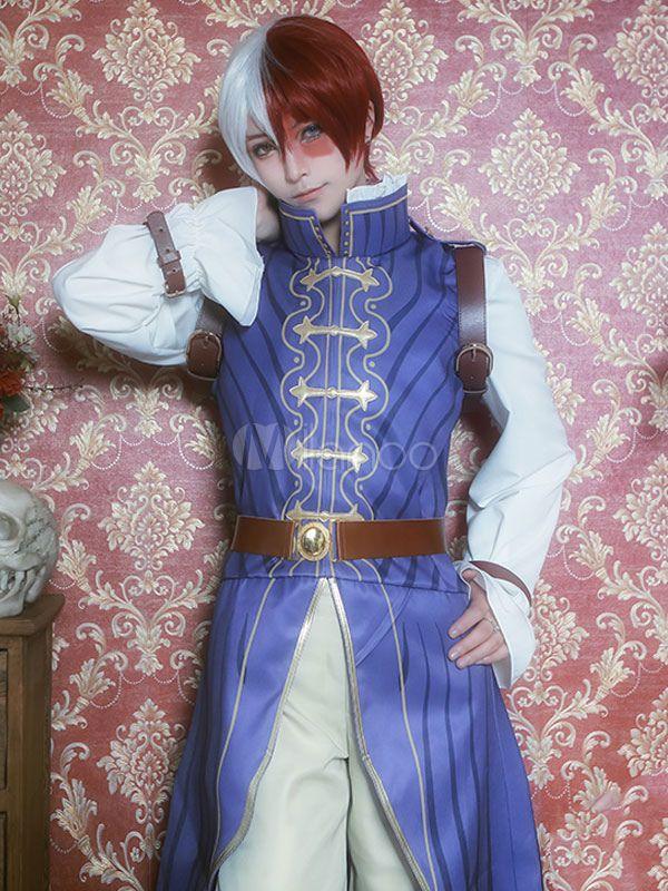 Photo of Boku No Hero Academia Todoroki Shouto Chinese Cheongsam Halloween BNHA Cosplay Costume