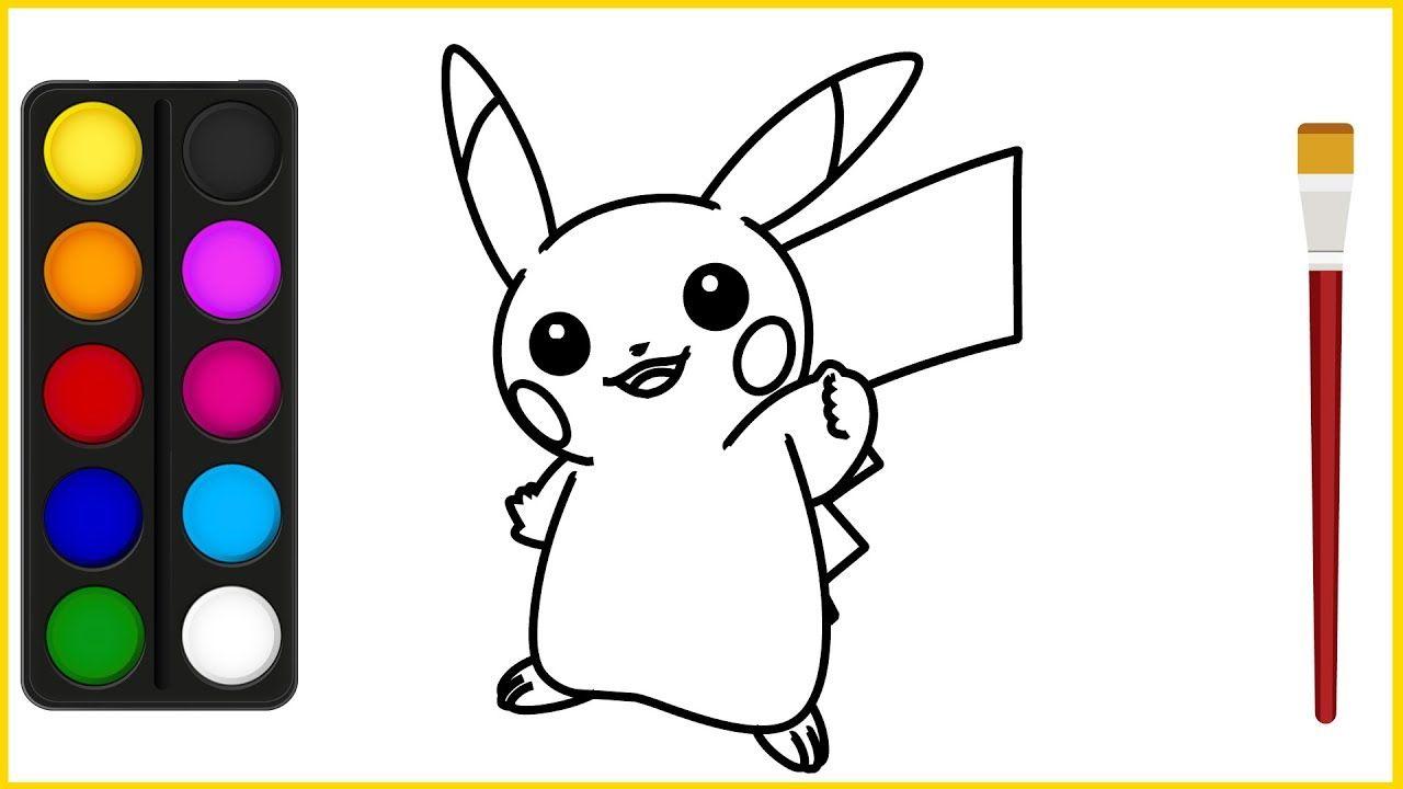 Lernen Sie Pikachu Fur Kinder Zu Zeichnen Farbe Pokemon Go Namen