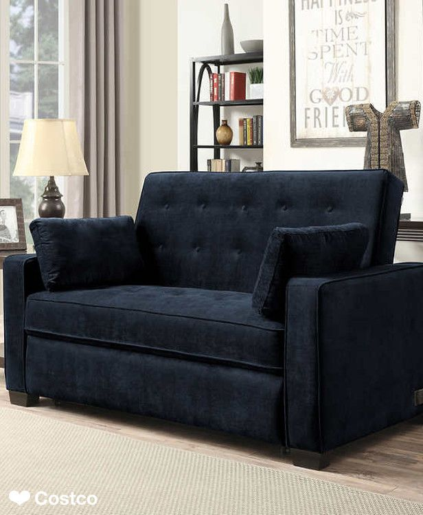 The Westport Fabric Sleeper Sofa In Navy Blue Is Sure To Be A