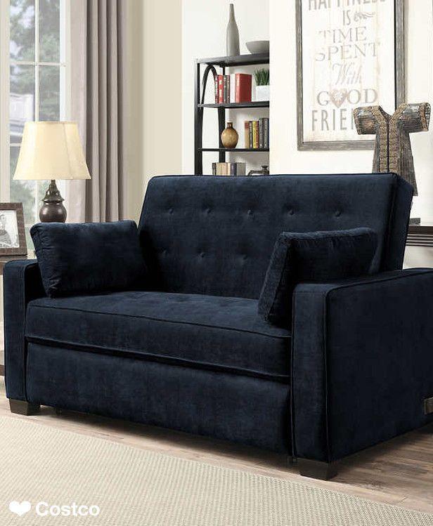 The Westport Fabric Sleeper Sofa In Navy Blue Is Sure To
