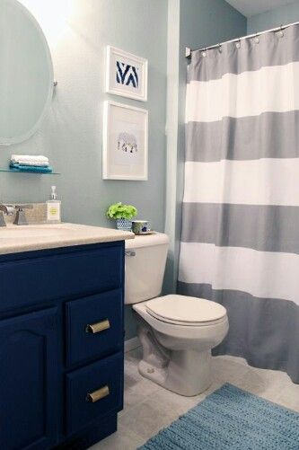 Royal Blue And Gray Great Color Combos Kid Bathroom Decor Kids Bathroom Colors Bathroom Kids