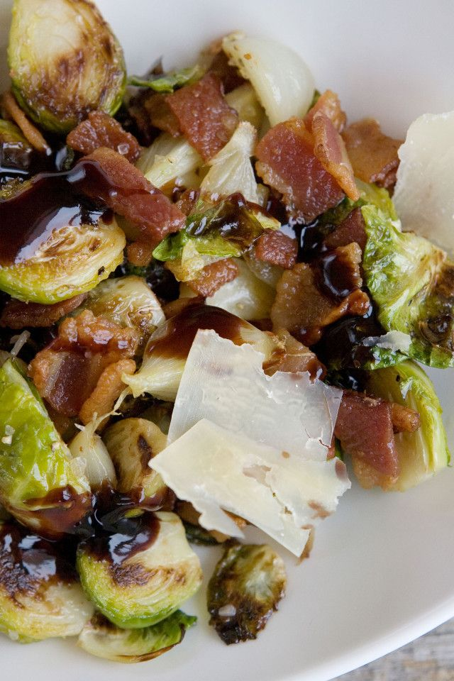 Brussel Sprout Recipes With Bacon Balsamic Vinegar Blue Cheese
