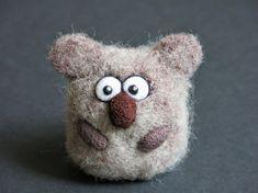 Koala bear needle felted figurine, wool art toy, baby koala, miniature pet, wool sculpture, needle felted animal, australian #needlefeltedcat Koala bear needle felted figurine wool art toy baby koala image 4 #needlefeltedcat