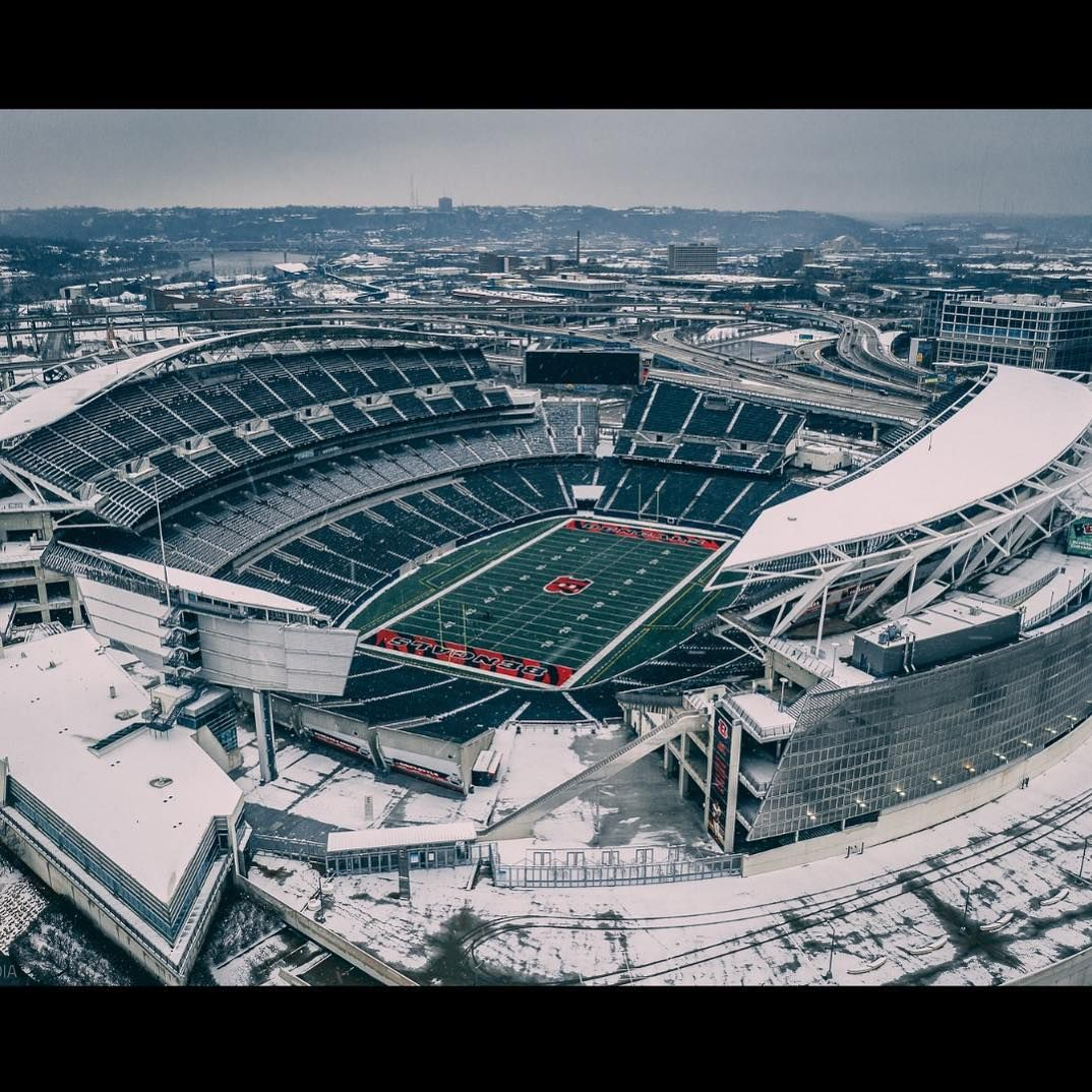 Mavic 2 Pro capture of Paul Brown Stadium, home of the