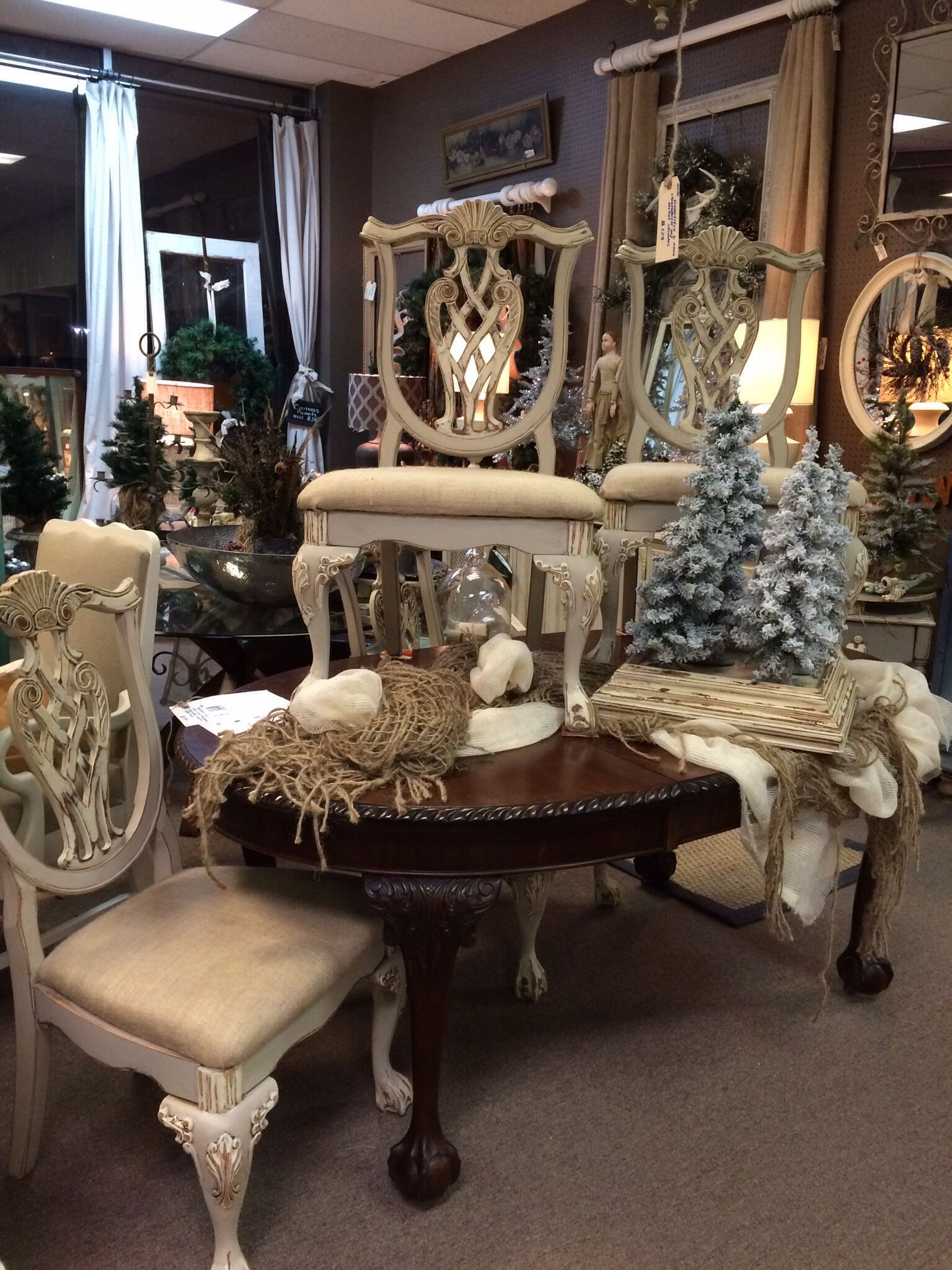 Beau Beautiful Painted Chippendale Chairs