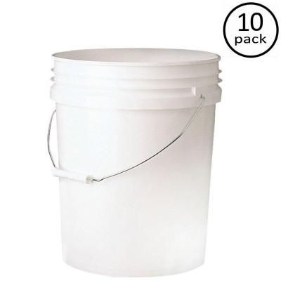 Leaktite Premium 5 Gal Food Storage Container 10 Pack P9gl00fg The Home Depot Food Storage Food Storage Containers Storage Containers