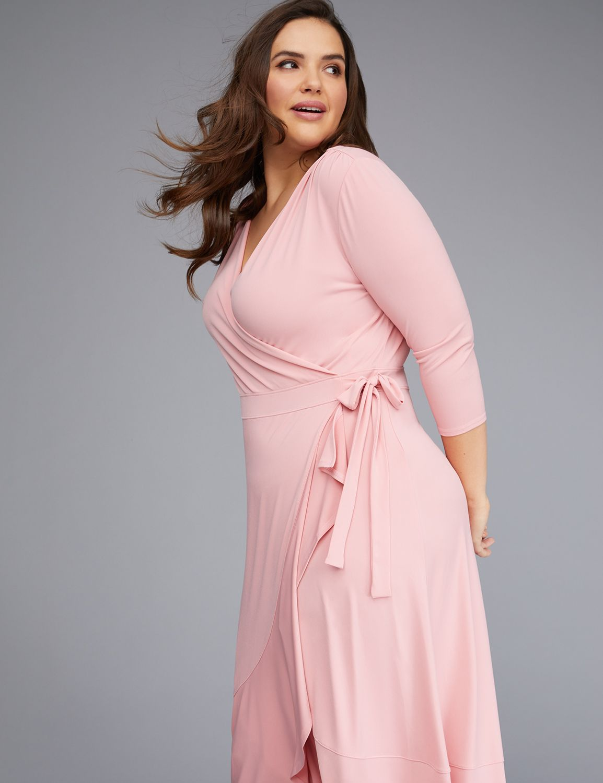 Spring Essential A Blush Pink Wrap Dress Trendy Plus Size Dresses Plus Size Blush Dress Pink Wrap Dress [ 1500 x 1154 Pixel ]