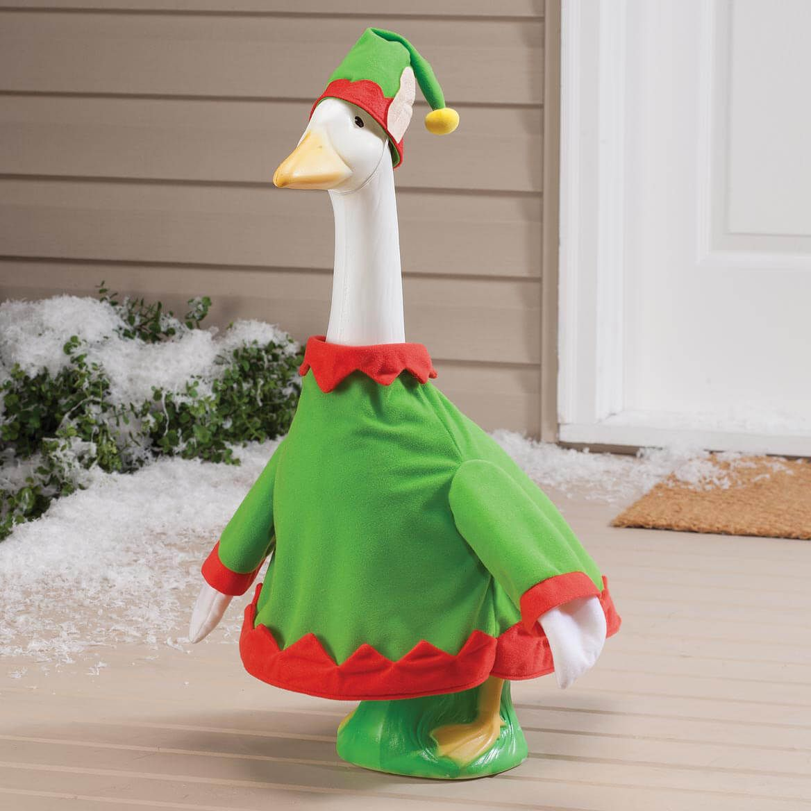 Elf Goose Outfit Goose Costume Lawn Goose Miles Kimball Goose Costume Goose Clothes Porch Goose