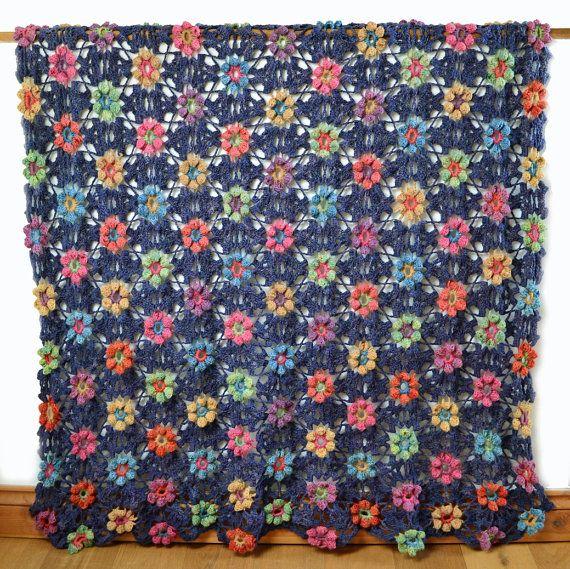 Ermintrude Crochet Blanket PDF CROCHET door AmandaPerkinsDesigns