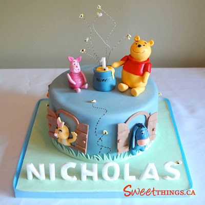 Winnie The Pooh Cake Cakes And Cupcakes For Kids