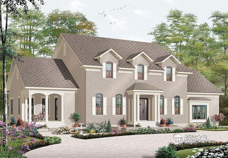 Manoir am ricain maison pinterest plan maison maison interg n rationnelle et maison for Plan de maison style americain