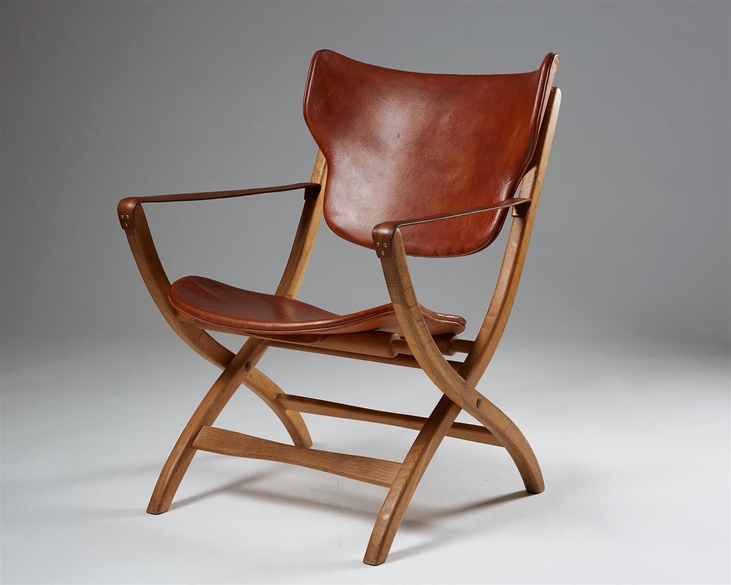 Authentic egyptian furniture - Folding Armchair Egyptian Chair Designed By Poul Hundevad Modernity