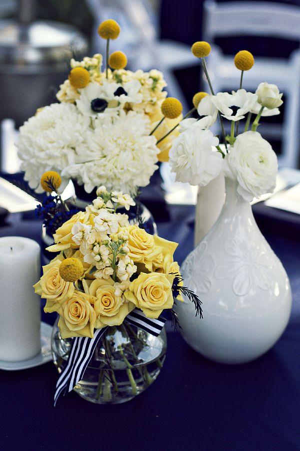 b959078e95e7 Navy Gray Wedding, Gray Weddings, Blue Yellow Weddings, Gold Watercolor
