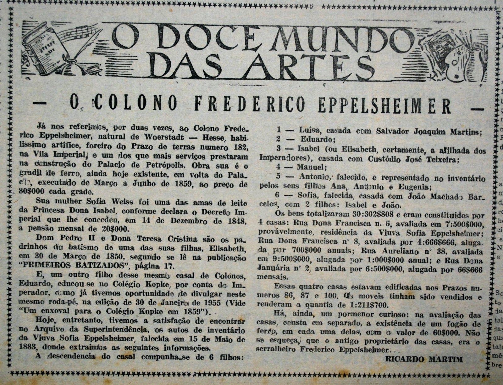 Imigração Alemã em Petrópolis - Memória da Colonização