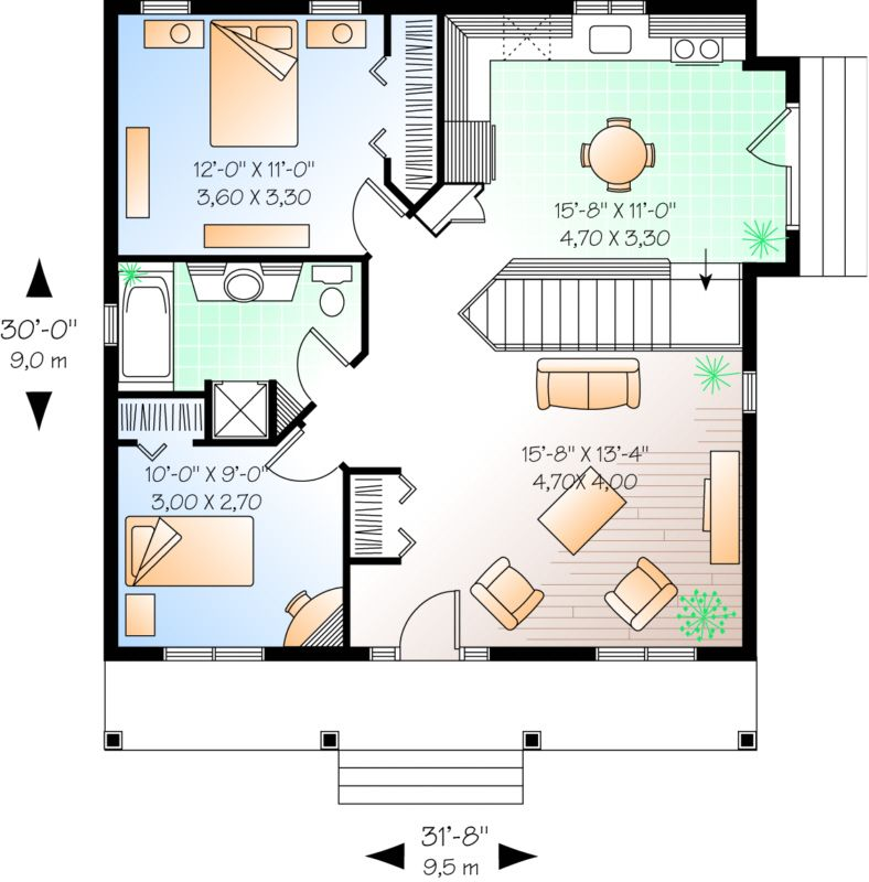 Finish basement with laundry and den Floor Plans in 2018