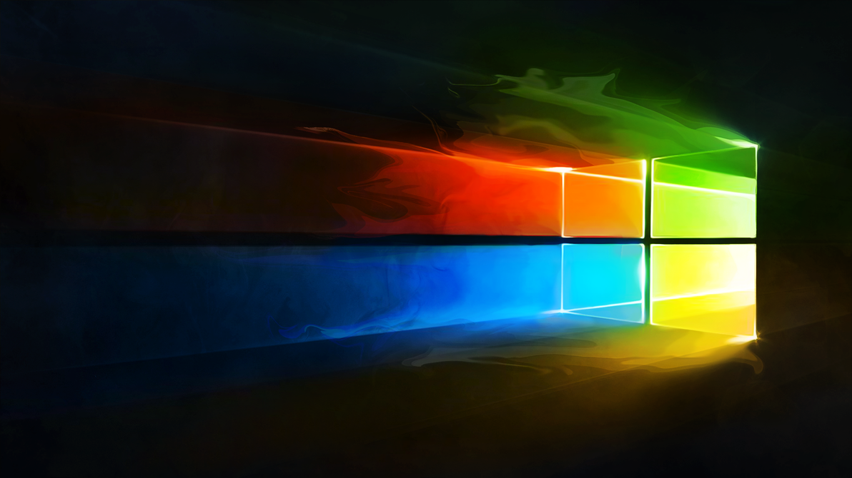 Windows 10 Liquify Colour Logo Wallpaper by iamjcat on