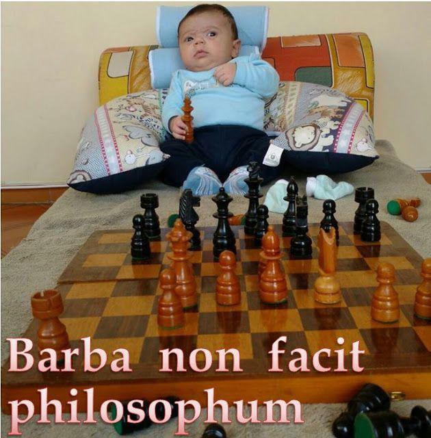 Barba non facit philosophum:  A barba não faz o filósofo. : Beard does not make a philosopher