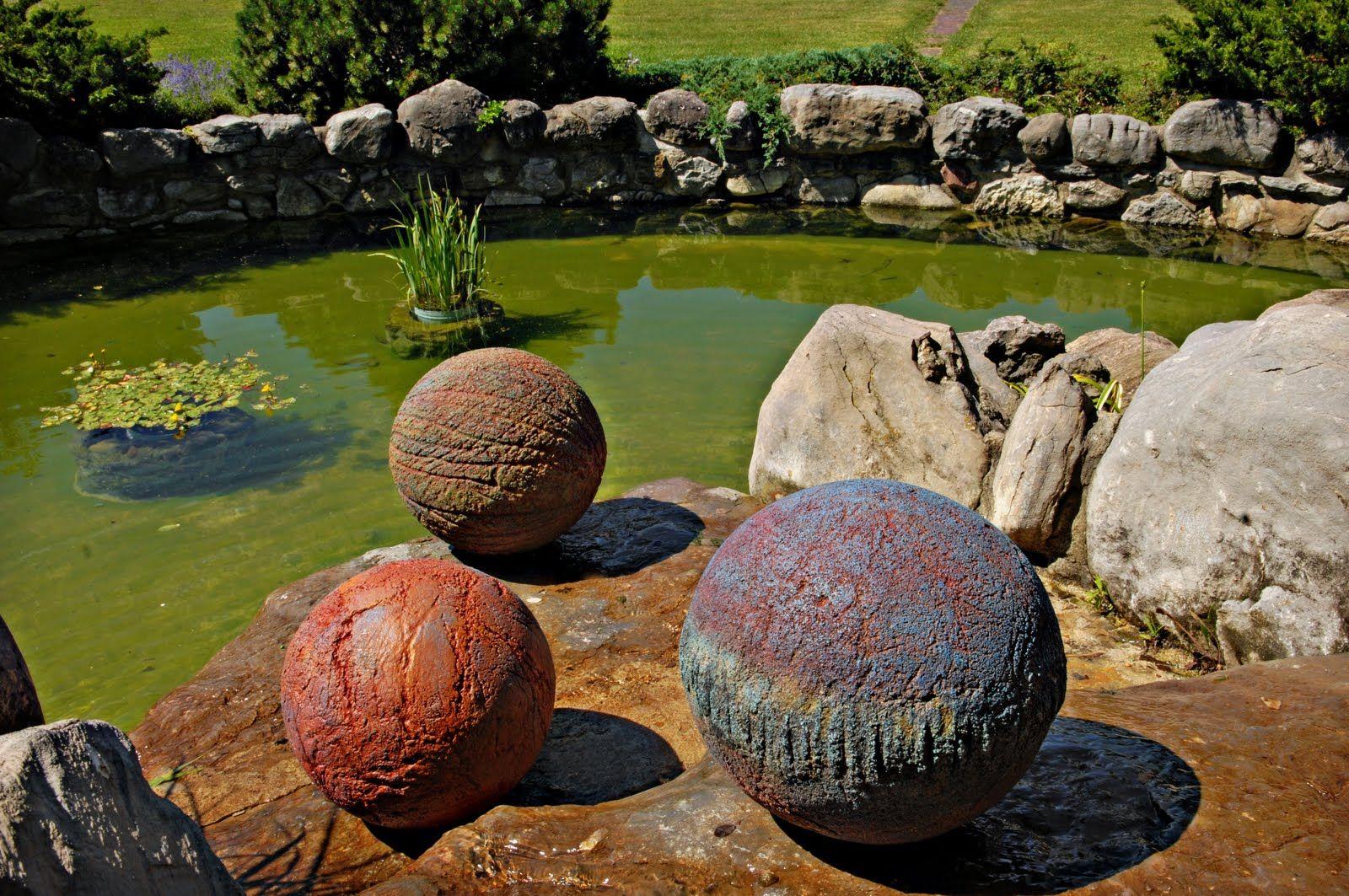 Hypertufa Balls Garden Stuff Concrete