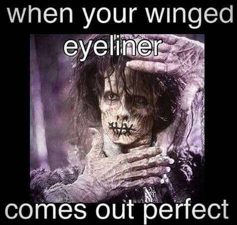 winged eyeliner hocus pocus billy   beauty memes