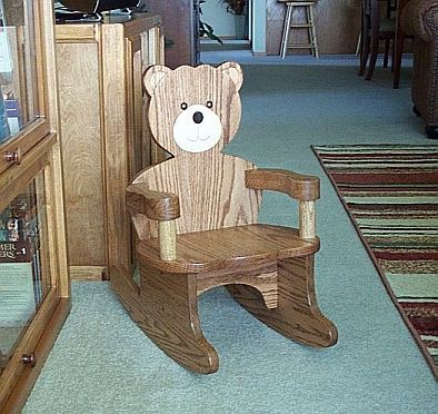 How To Build A Bear Chair Ehow Com Kids Rocking Chair Stool