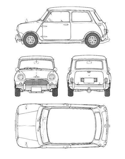 Cooper+Blueprint+Poster+Print £2000 Clásicos Pinterest Fiat - new old blueprint art