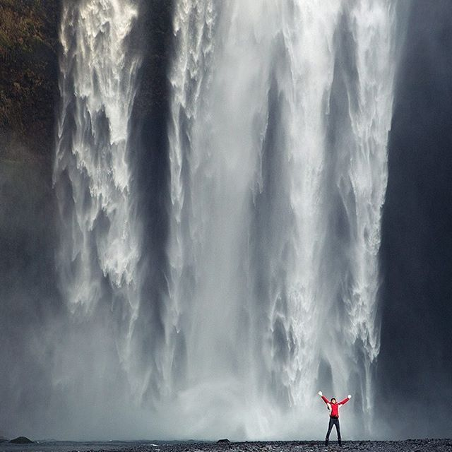 ICELAND. Skógafoss is a waterfall situated on the Skógá River in the south of Iceland at the cliffs of the former coastline. Have you been here?
