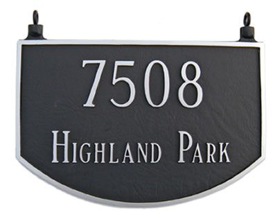 Two Sided Prestige Arch Address Plaque Hanging Address Plaque House Address Sign Custom Address Plaque