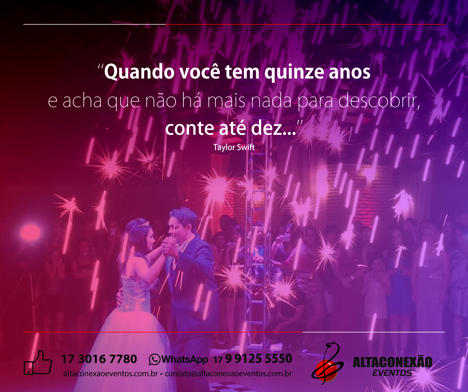 15 anos, Alta Conexão Eventos!. Veja no Guia Novas Noivas: http://bit.ly/1fLK4h7