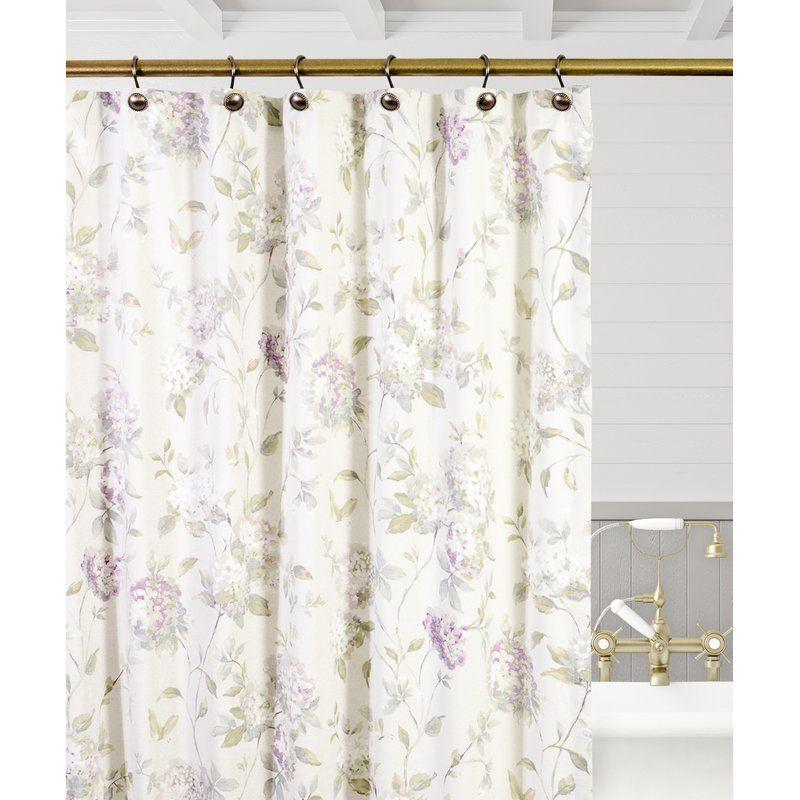 Ellis Curtain Kyra Hydrangea Shower Curtain Reviews Wayfair