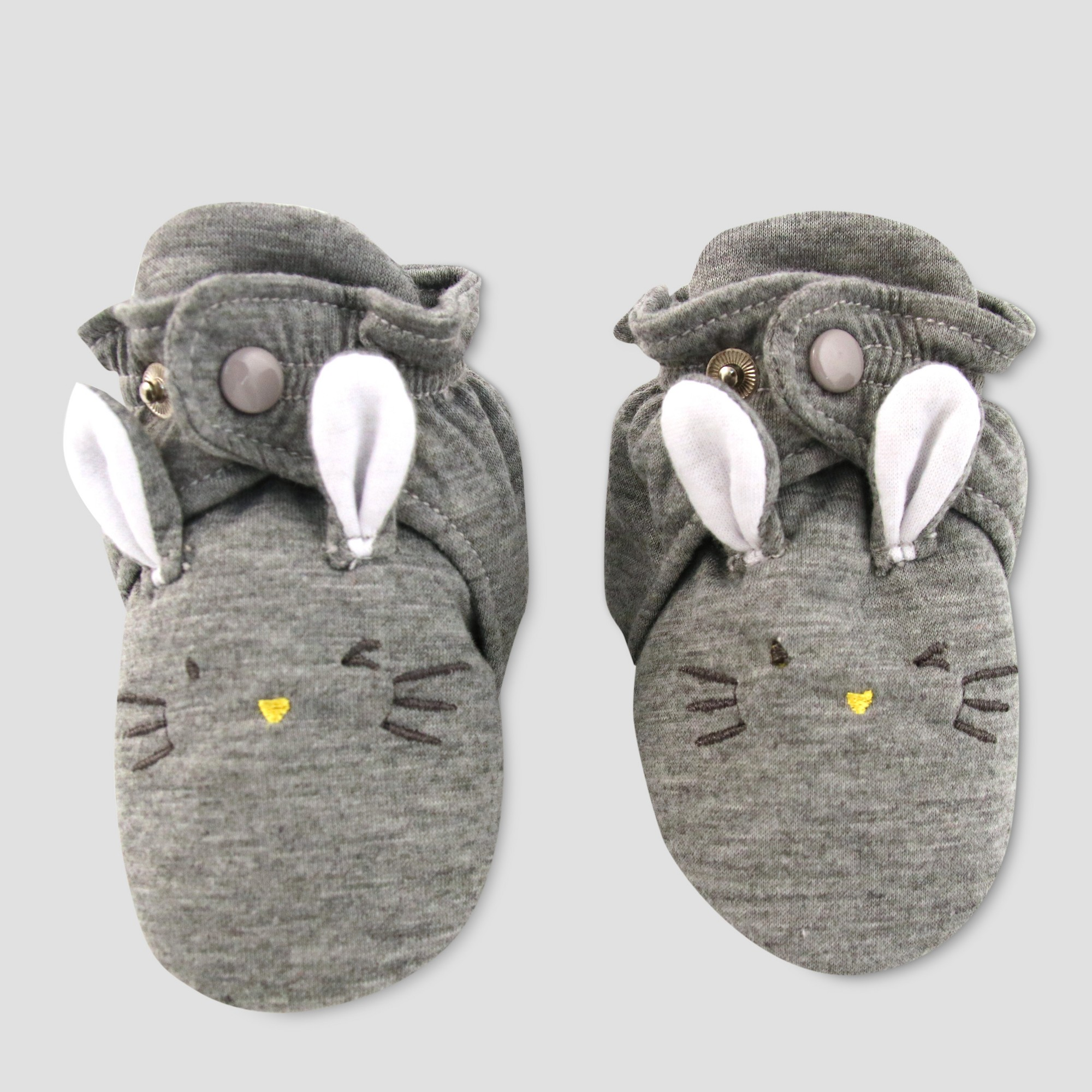 Baby Slipper Socks with Rabbit Face Cat & Jack Gray 3 6M Infant
