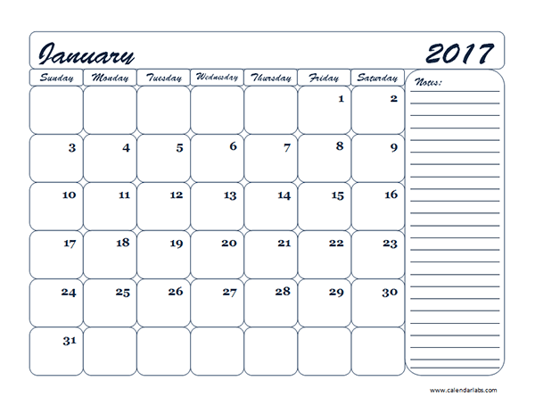 Monthly Blank Calendar Template Free Printable Templates