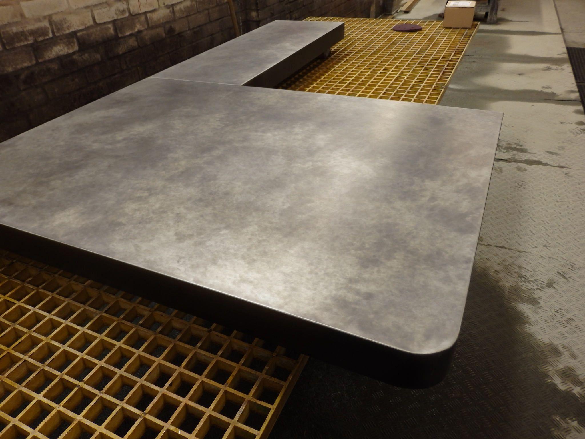 177 Bar Top In Light Patina Zinc Metal Bar Top Coffee Shop Design Metal Bar
