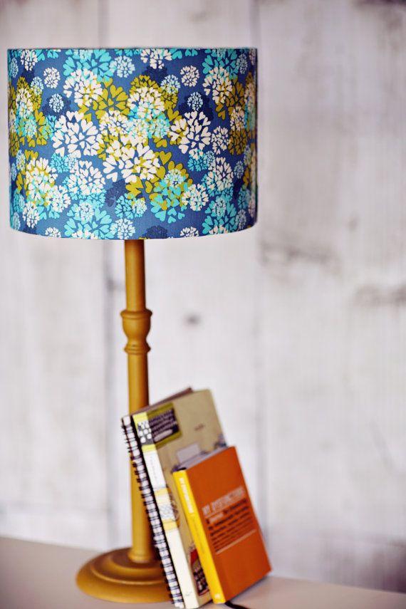 Items Similar To Blue Lampshade Blue Table Lamp Ceiling Lampshade Fabric Lampshade Drum Lamp Shade Heart Lampshade Blue Light Shade Handmade Lampshade On Blue Lamp Shade Blue Table Lamp Table Lamp