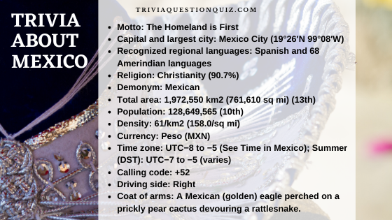 Trivia about Mexico