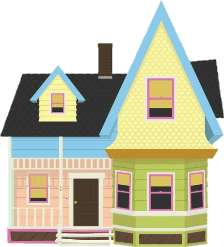 Freetoedit House Home Colorful Drawing Fanart Pixar Movie Up Cute Love Adventure Rainbow Up House Pixar Up Movie House Simple House Drawing