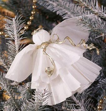 coffee filter angels christmas craft you can make yourself