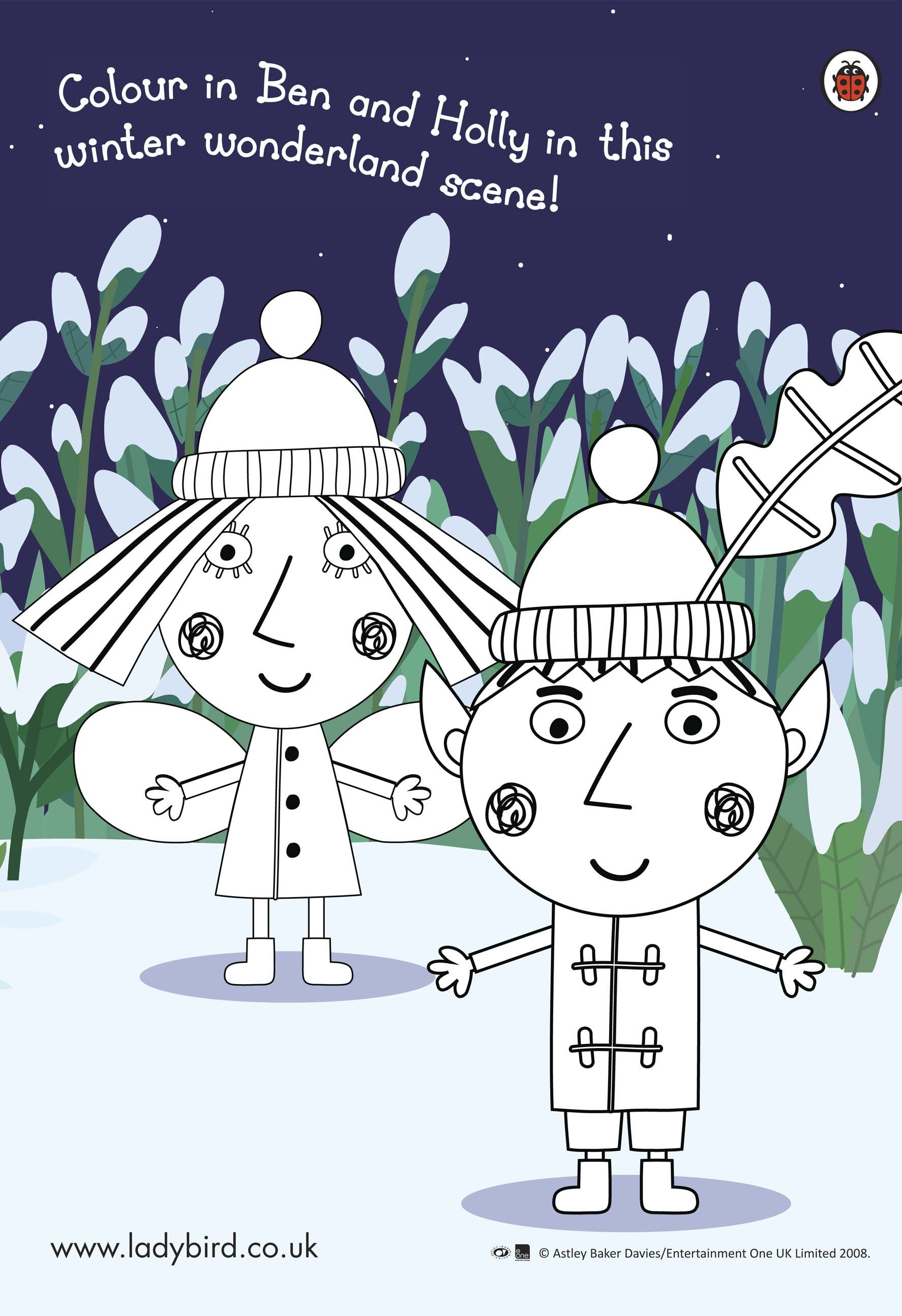 Benhollyactcol897570, ben and holly coloring, winter