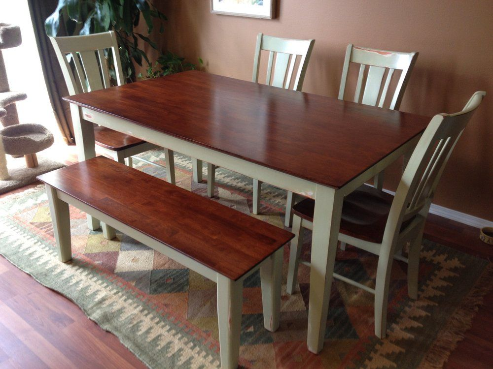 Superbe Natural Furniture   Portland, OR, United States. Parawood Shaker Table And  Chair Set With Antiqued Basll Milk Paint U0026 Black Cherry Stain.