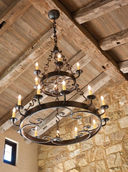 Large Iron Chandelier: Large Rustic Chandeliers With CI Allure Of French And Italian Decor Iron  Chandelier Pic 292,Lighting