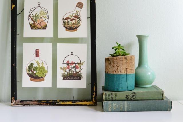 Comment Fabriquer Un Pot De Fleur En Bois Creatif Idee Diy Pinterest