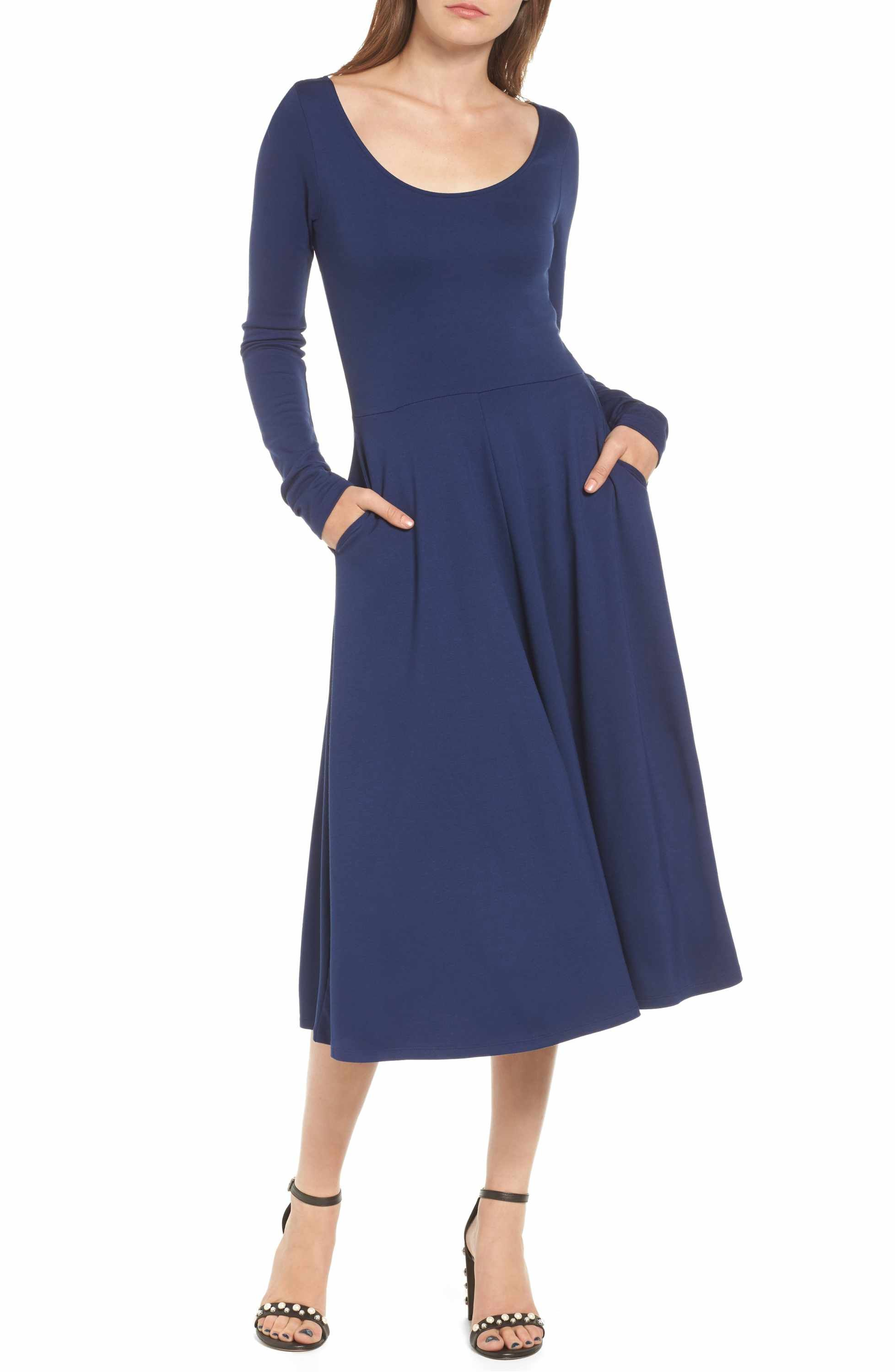 Main image leith long sleeve midi dress what to wear pinterest